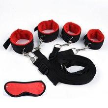 Lingerie sensual mulheres handcuffs para sexo, bdsm, bondage, conjunto, anklecuffs, máscara sexual adulto, brinquedos sexuais, sistema de contenção para cama jogos