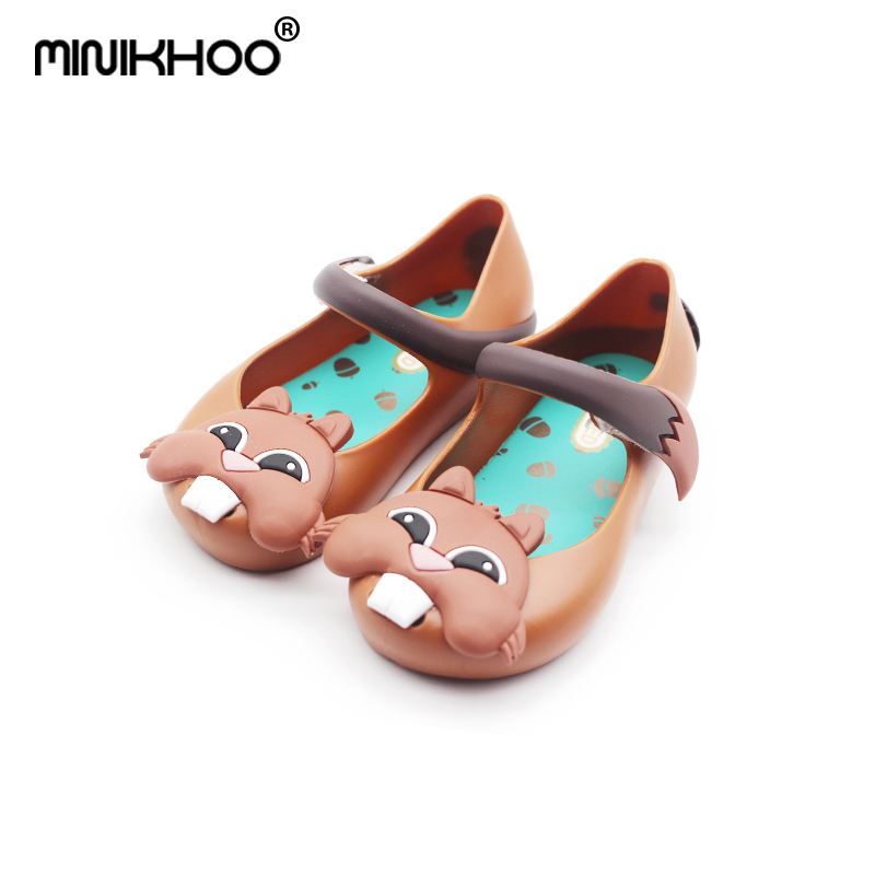Mini Melissa 2018 Cute Squirrel Girls Jelly Sandals Children Shoes Baby Sandals Beach Sh ...
