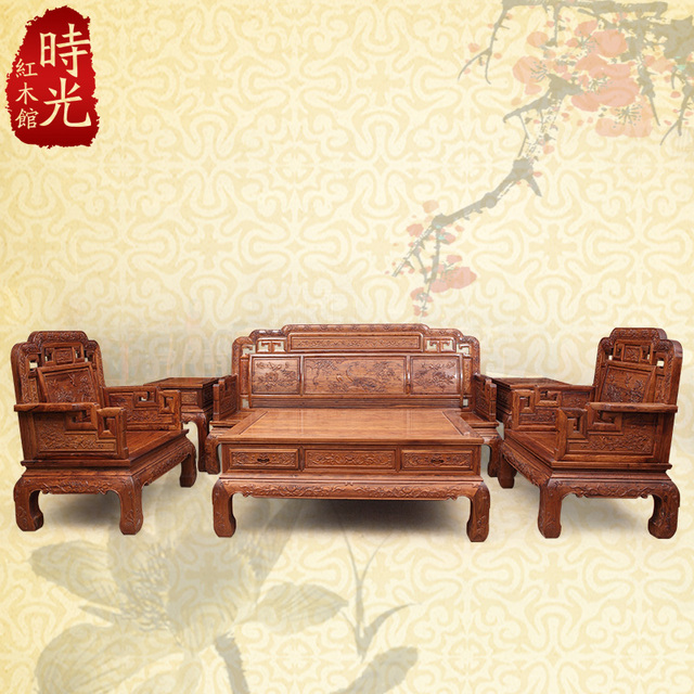 Chinese Living Room Furniture: Mahogany Furniture, Chinese Wood Living Room Sofa Corner