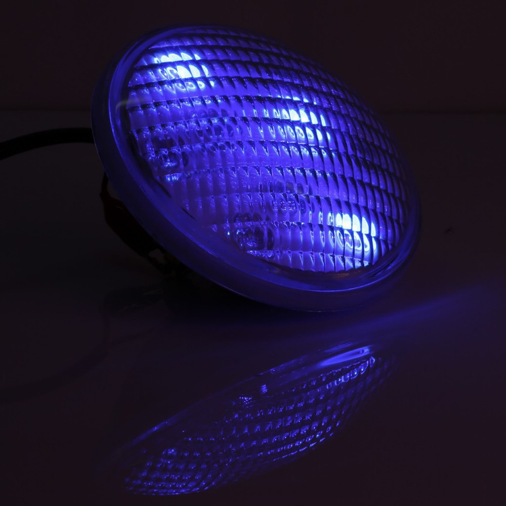 US Stock Stainless steel PC IP68 PAR56 72W(24*3W)RGB, AC12V/24V LED Swimming pool light underwater light with remote control us 3 12