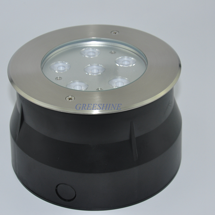 18 W lampe enterrée AC85-265V LED Uplight Encastré Blanc Chaud Extérieur de Tache de Jardin Paysage Luminaire 4 pcs/lot