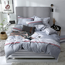 ParkShin Bed Fitted Sheet Set Bedding Nordic Elastic Geometry Bedspread Double King Size Pillowcases Duvet Cover
