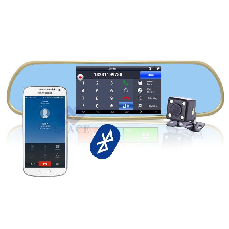 GPS Navigator Mirror Car Video Recorder With Bluetooth Full