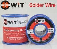 Japan WiT 500g Welding Wire for Soldering Iron Low Melting Temperature Non halogen Non corrosive Non splash Tin line 1.2% Flux
