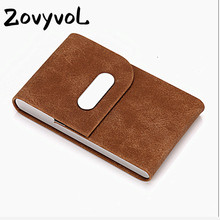 ZOVYVOL Stainless Steel Business Name Card Holder High Quality Slim Case ID Credit Creative Metal Solid Box