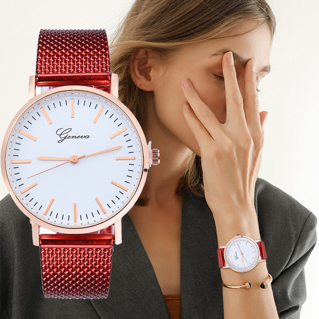 Fashion WristWatch Women GENEVA Classic Quartz Silicone Gel Dress Wrist Watch Br