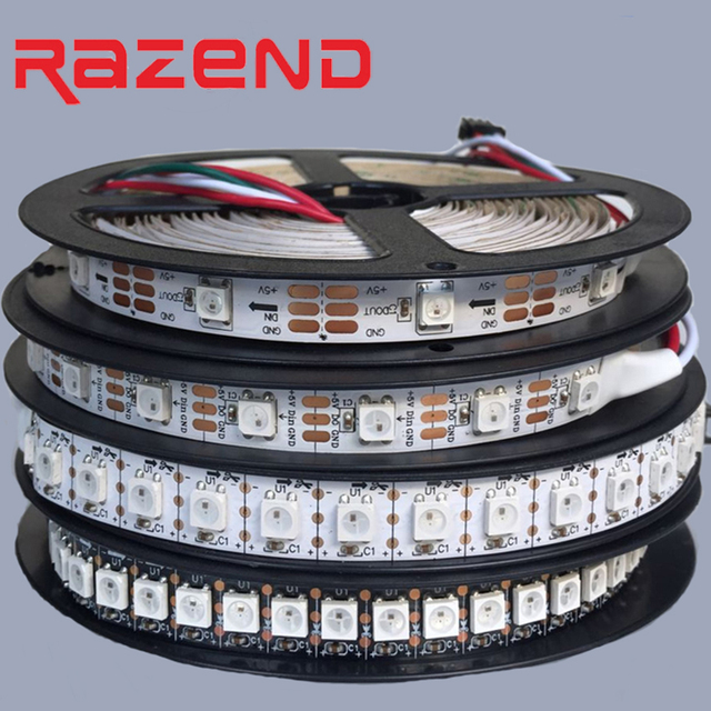 Best Price individually addressable WS2812B led strip 30/60/74/96/144leds/m WS2811 IC waterproof IP65 IP67 DC5V 1m 2m 4m 5m