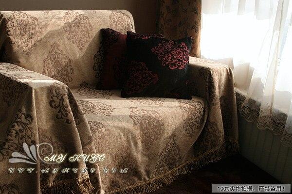 Модные благородство двусторонний полный диван полотенце скольжению Универсальный диван полотенце