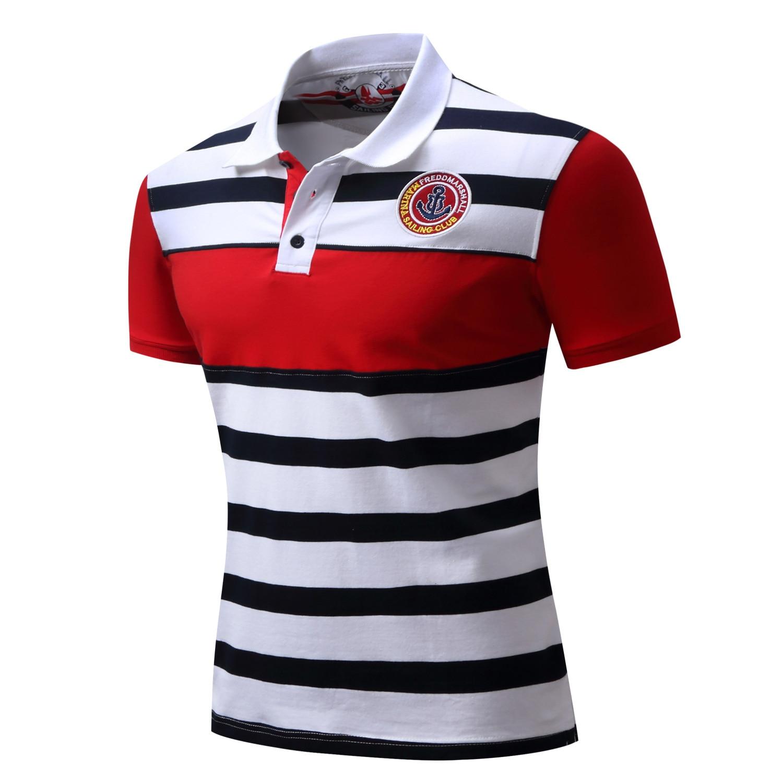 Men   Polo   Shirt High Quality Brand New Summer Casual Striped Cotton Men's   Polo   Solid   Polo   Shirt   Polo   Men Camisa