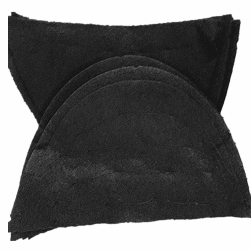 10 Pairs Black Cotton Shoulder Pad Anti-Slip for Blazer T-shirt Windbreaker Clothes DIY Craft Accessories about 13*18.5*0.8cm