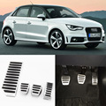 Brand New 4pcs Aluminium Non Slip Foot Rest Fuel Gas Brake Pedal Cover For Audi A1 MT 2012-2016