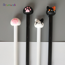 8Pcs Arsmundi 0.5mm Gel Pen Kawaii Cute Alpaca Cat Gel-Ink Neutral Creative Korea Stationery School Writing Office Supplies