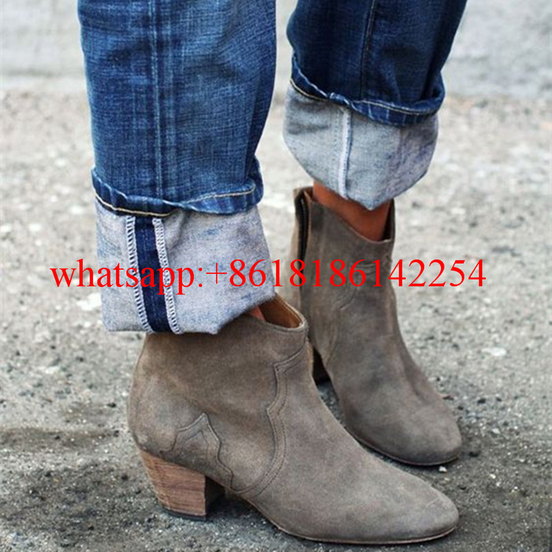 2016 Super-star Fashion Boots Women Relaxten Ankle Boots Etoile the Stylish Suede Bootie Women Blogger Style Boot Shoes Botas
