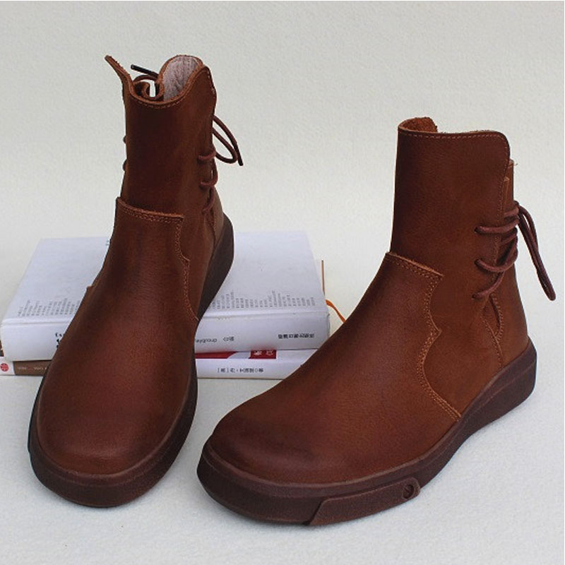 Shoes Woman Boots 100% Genuine Leather Lace up Women Boots 2018 Chic Motorcycle Boots Female Winter Footwear (wr338)Shoes Woman Boots 100% Genuine Leather Lace up Women Boots 2018 Chic Motorcycle Boots Female Winter Footwear (wr338)