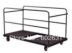 powdered metal frame Round banquet table trolley,