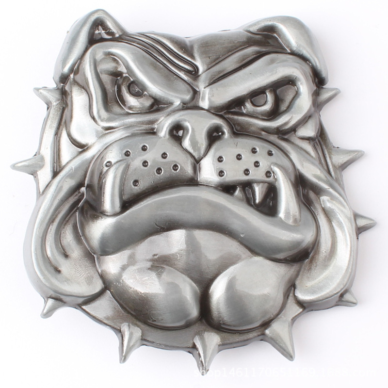The Bulldog's Smooth Metal Belt Buckle Apply To 3.8cm Belt