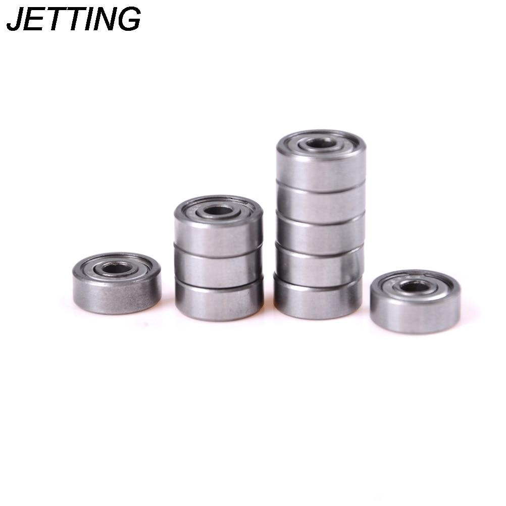 цена на JETTING 10pcs High Quality 606ZZ Metal Shielded Ball Deep groove Ball Bearings Shafts Wholesale machine tools
