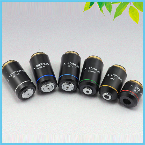 Biological Microscope Achromatic Infinity Objective Lens 4X 10X 20X 40X 60X 100X Infinity System for Olympus Microscope brand new microscope achromatic objective lens 4x 10x 40x 100x set free shipping page 3