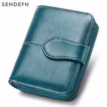 SENDEFN New Wallet Women Purse Brand Coin Purse Zipper Wallet Female Short Wallet Women Split Leather Small Purse 5150-74(China)