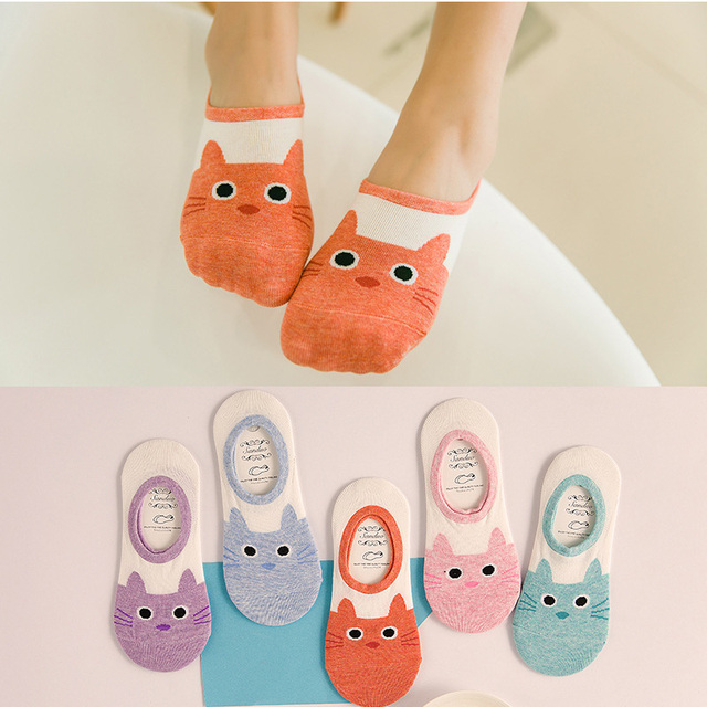 869f9ce2b7 US $0.49 19% OFF|New Free Shipping Women Candy Color Socks Small Animal  Cartoon Short 100% Cotton Boat Socks Ladies Breathable Casual Funny Sock-in  ...