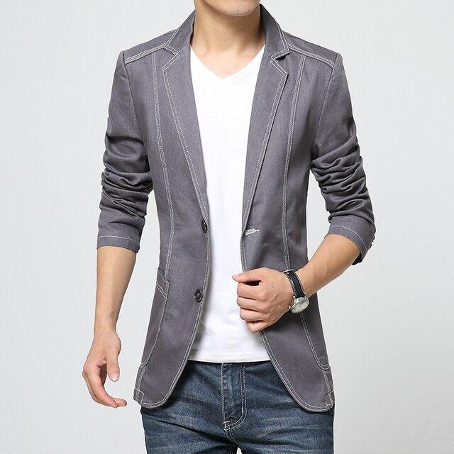 2017 Новая Мода Джинсовая пиджак мужчины пиджак джинсы slim fit ковбой пальто Досуг мужской костюм джинсовая куртка Мужчин случайные пальто куртка