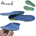 Soumit Full Length Orthotic Gel High Arch Support Kid Insole Absorb Shock Children Insoles Footbed for Reducing Foot Pain