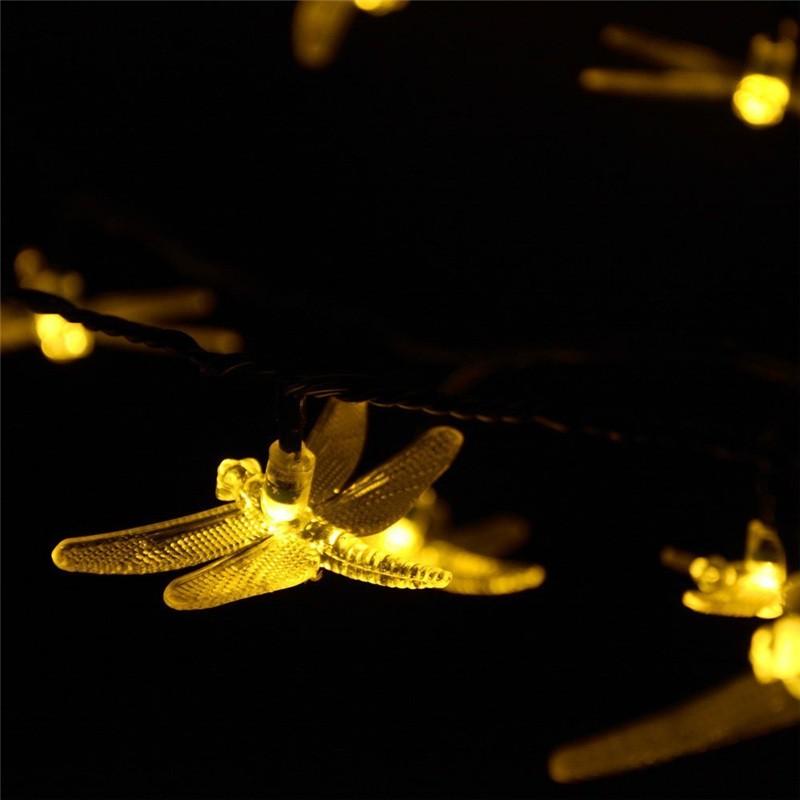 lederTEK Brand Solar Christmas Lights 19.7ft 6m 30 LED (1)