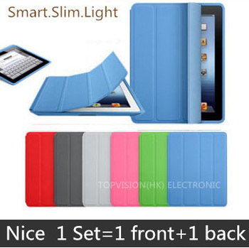 2 in 1 nice protective for ipad case pu leather smart cover for apple ipad 2 3 4 case magnetic turn off slim thin shell image