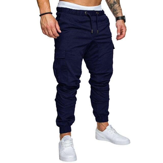 Autunno Uomini Pantaloni Hip Hop Harem Pantaloni Pantaloni 2020 Nuovo Maschio Pantaloni Uomo Pantaloni Solid Multi-tasca Dei Pantaloni Pantaloni Della Tuta m-4XL 5