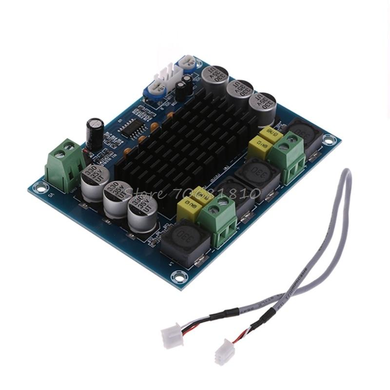 Free Shipping Dual-channel Stereo Digital Audio Amplifier Board TPA3116D2 Amplifier 2x120W DIY Drop Shipping 10pcs free shipping lm4863d lm4863 dip 16 dual channel o power amplifier new original