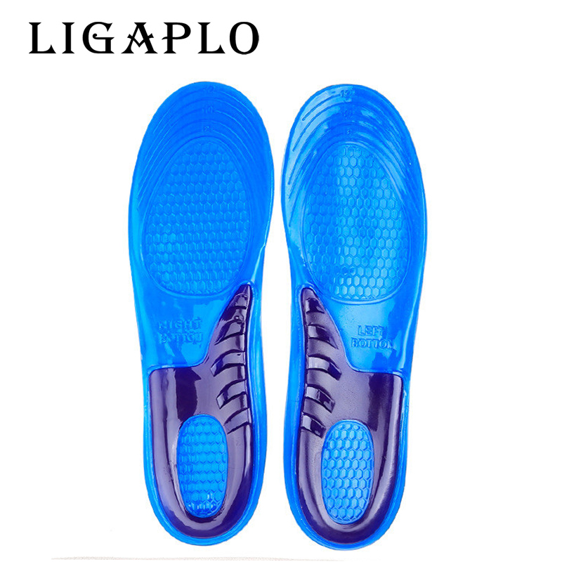 1Pair Women/Men Sport Insole Silicone Gel Massaging Insole Arch Support Orthopedic Plantar Fasciitis Running Insole Orthotic
