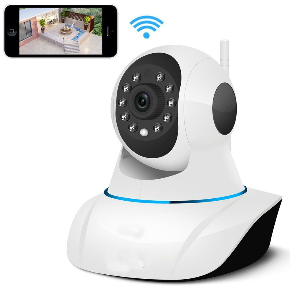 wifi wireless ip camera ir cut night vision audio recording network cctv onvif pan tilt p2p baby. Black Bedroom Furniture Sets. Home Design Ideas
