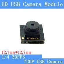 Puaimetis 12.7*12.7ミリメートルhdミニ監視カメラ720 p 30fps空きドライブusb2.0カメラモジュール