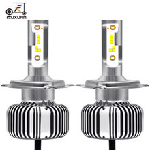 2Pcs FUXUAN H4 LED H7 Auto Car Headlight 9005 HB3 9006 HB4 9012 H11 H1 60W 6000LM 6000K Automobile Bulb