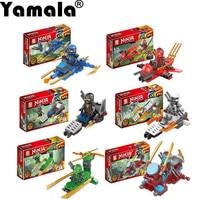 Yamala 4Pcs Ninjagoes Dragon Building Block KAI JAY COLE ZANE Lloyd WU NYA GARMADON Ninja