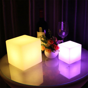 Image 4 - Thrisdar Dimmable 16 Color LED Cube Bedside Night Light Battery Powered Ambiance Cube Night light Kids Bedrooms Mood Table Lamps