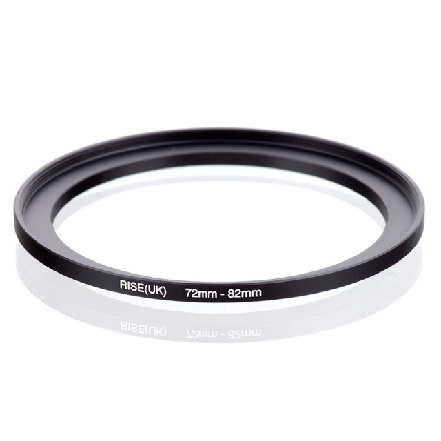 original RISE(UK) 72mm 82mm 72 82mm 72 to 82 Step Up Ring Filter Adapter black