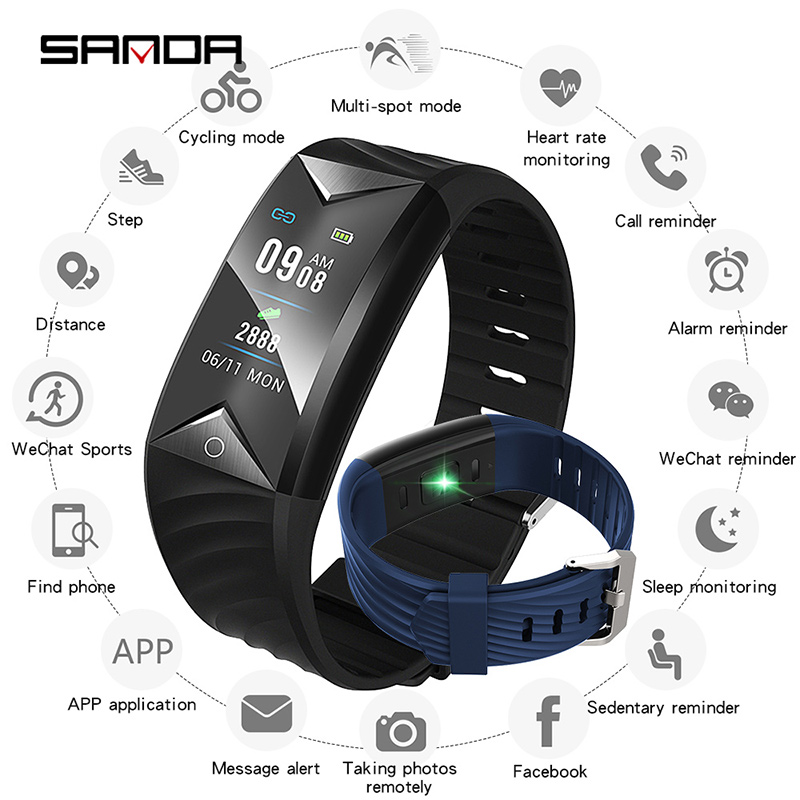 SANDA New Bluetooth Smart Watch Women Heart Rate Monitor Blood Pressure Tracker Mens Watches Fitness Wristband Clock Men watchSANDA New Bluetooth Smart Watch Women Heart Rate Monitor Blood Pressure Tracker Mens Watches Fitness Wristband Clock Men watch
