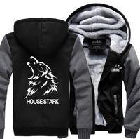 Game Of Thrones House Stark Men Sweatshirt 2016 Spring Winter Fleece Hoody Jacket Men Sportswear Brand