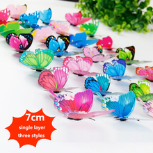 50PCS/Lot 7cm Artificial Butterfly Garden Decorations Simulation Stakes Yard Plant Lawn Decor Fake Butterefly