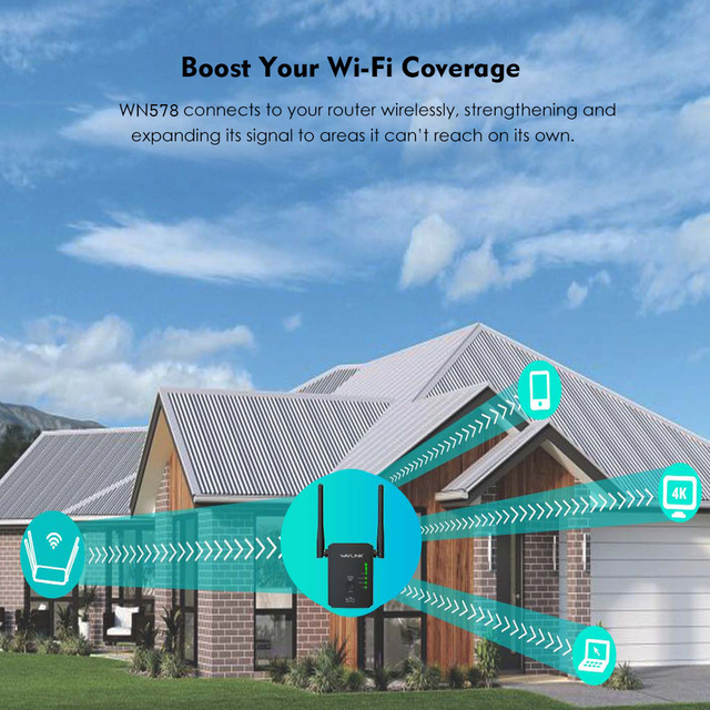 Wavlink N300 Original Wireless Wifi Repeater 300mbps Universal Range Wireless Router With 2 Antennas AP Router Extender Mode