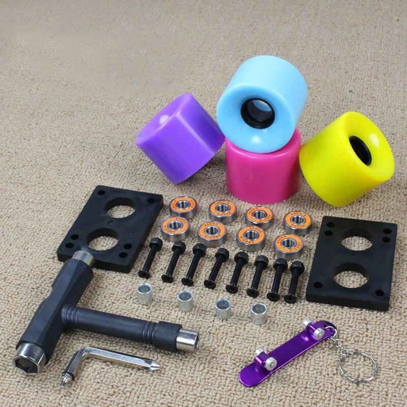 60mm Skateboard Wheels Set ABEC-9 Bearing 29mm Hardware 3mm Riserpad T Tools Finger Skateboard Self Help New Wheels Configure