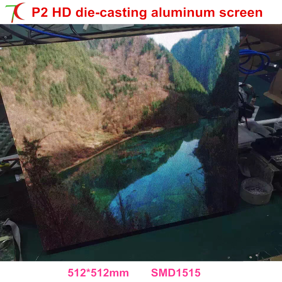 Normal Smaller Pixels P2 Indoor 512*512mm 32scan Die-casting Aluminum Cabinet For Hd Real Led Display,1600cd