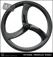 Free Shipping CARBON Tri Spoke Wheel Turbo 3S Front 3 SPOKE Clincher For Road Or Track