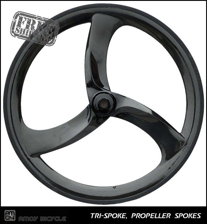 Free shipping CARBON Tri Spoke Wheel Turbo 3S(Front) - 3 SPOKE Clincher; For Road Or Track; Triathlon / Time Trial Bike Wheel стоимость