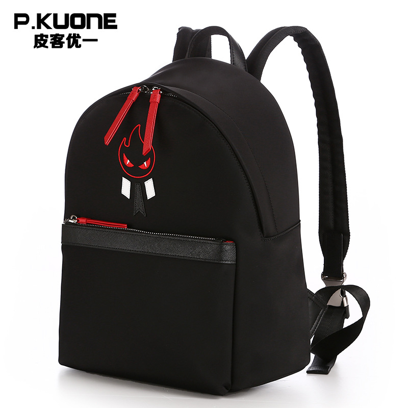 P.KUONE Special Offer Canvas Women Backpack Famous Luxury Brand Fashion Mochila For Teenager Girls Schoolbag Female Shoulder Bag 2017 fashion women waterproof oxford backpack famous designers brand shoulder bag leisure backpack for teenager girl and college