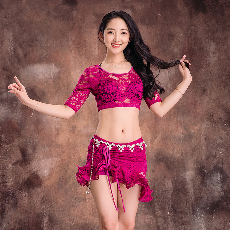 Oriental dancing costume Belly dance hair swinging Indian Egyptian dance costumes Bellydance clothes bra belt skirt dress 3049