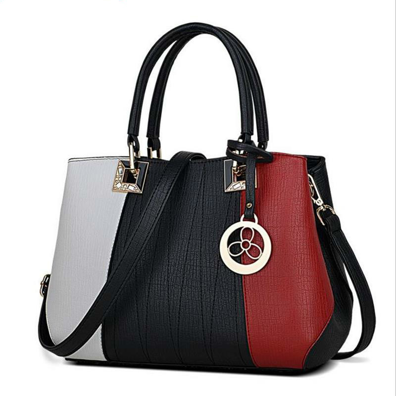 New Arrival Women Messenger Bag patchwork Top Handbag Ladies inclined shoulder woman bags handbags women famous brands 2017 boston women messenger bags inclined shoulder ladies hand bag women leather handbag woman bags handbags women famous brands