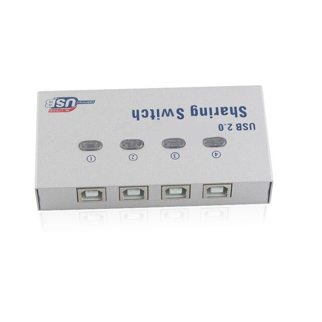 4 Port UY-04A USB 2.0 interruptor Sharing Auto caja Hub para PC tablet PC impresora escáner