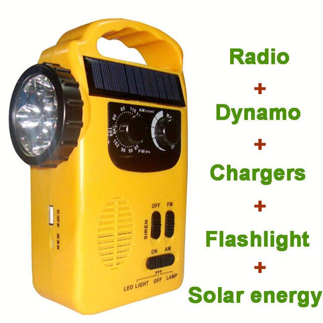2016 Nuevo Receptor de Radio Fm Wifi Rd-339t Dínamo Multifuncional Práctico con Linterna Led Y Cargador de Teléfono Móvil
